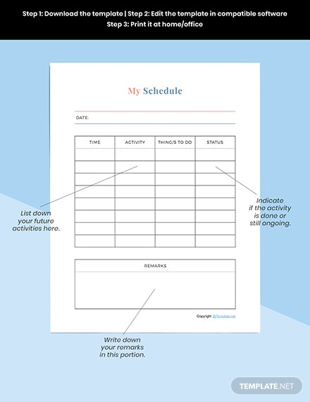 Sample Editable Journal planner