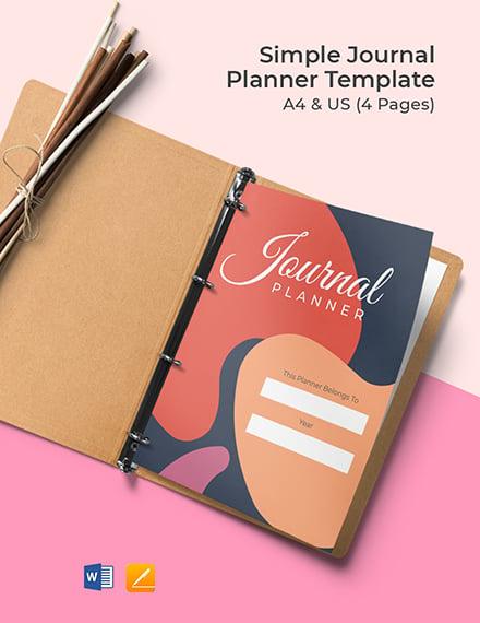 Simple Journal Planner Format