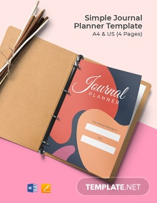 Free Simple Journal Planner Template