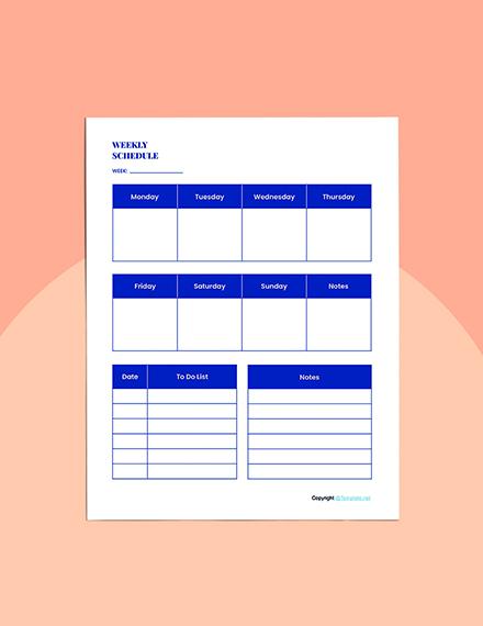 Sample Journal Planner Template Download