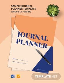 Free Sample Journal Planner Template