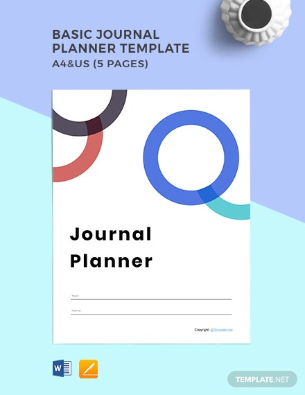 Basic Journal planner template