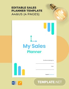 Free Editable Sales Planner Template