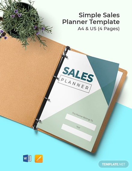 Free Simple Sales Planner Template