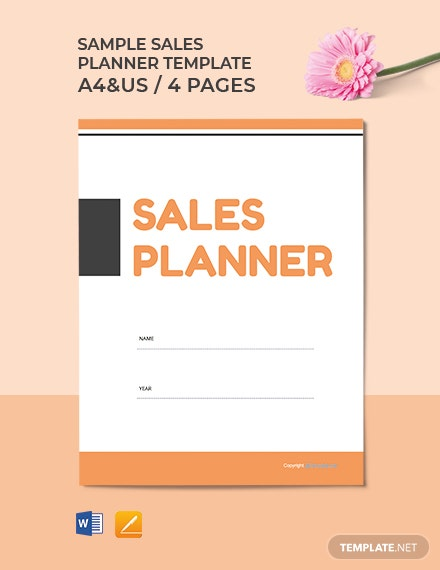 Free Sample Sales Planner Template