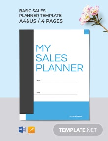Free Basic Sales Planner Template