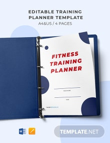 Free Editable Training Planner Template