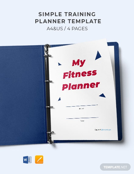 Free Simple Training Planner Template