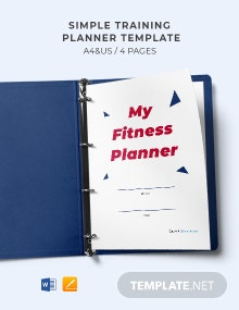 Simple Training Planner Template