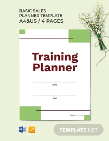 Free Sample Training Planner Template