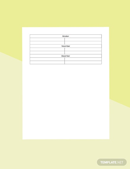 Basic Training Planner Template [Free Pages] - Word, Apple Pages
