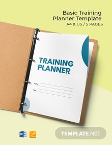 Free Basic Training Planner Template