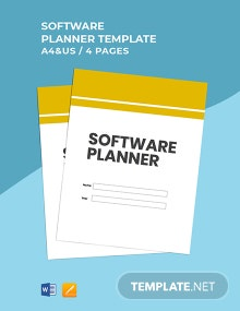 Free Editable Software Planner Template