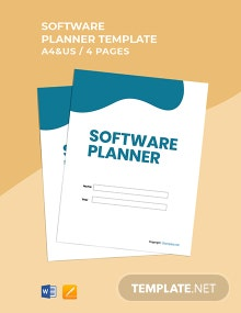 Free Simple Software Planner Template