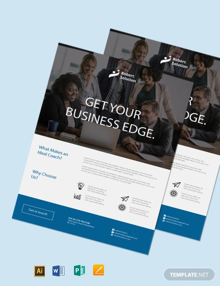 Free Business Executive Coach Flyer Template
