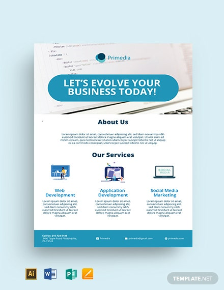 Free Business Services Flyer Template