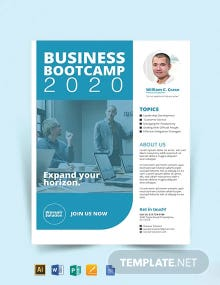 Free Business Training Flyer Template