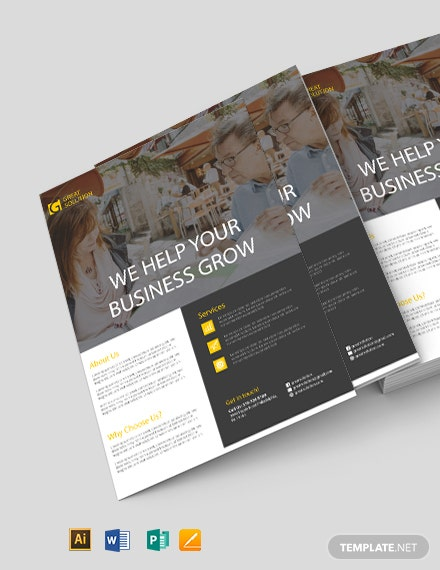 Free Corporate Strategy Flyer Template