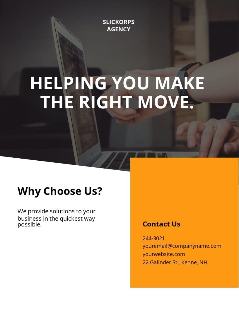 Free Employment Agency Flyer Template.jpe