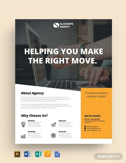 Free Employment Agency Flyer Template