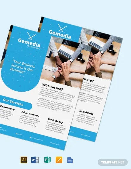 Free Global Network Services Flyer Template