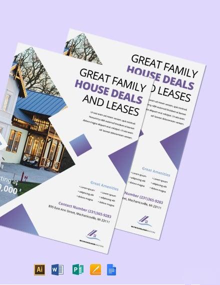 Open House Deals Flyer Template