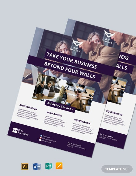 Free Small Business Consulting Flyer Template