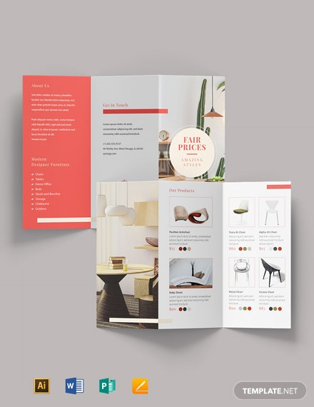 Free Furniture Sales Brochure Template