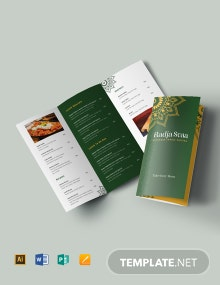 Free Indian Restaurant Take-out Tri-Fold Brochure Template