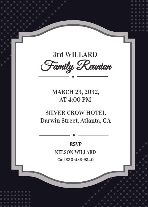 Formal Reunion Invitation Template