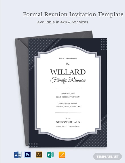 Formal Reunion Invitation Template