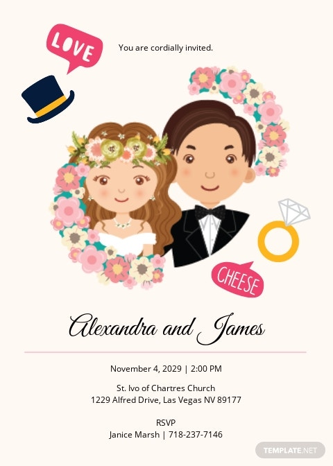 Fun Fall Wedding Invitation Suite Template