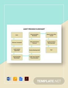 Audit Process Flowchart Template