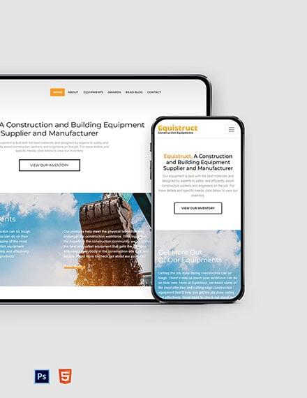Construction Equipment Website Template