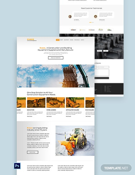 Construction Equipment Website Template