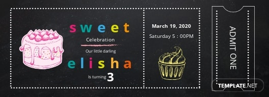 Free Birthday Admission Ticket Template