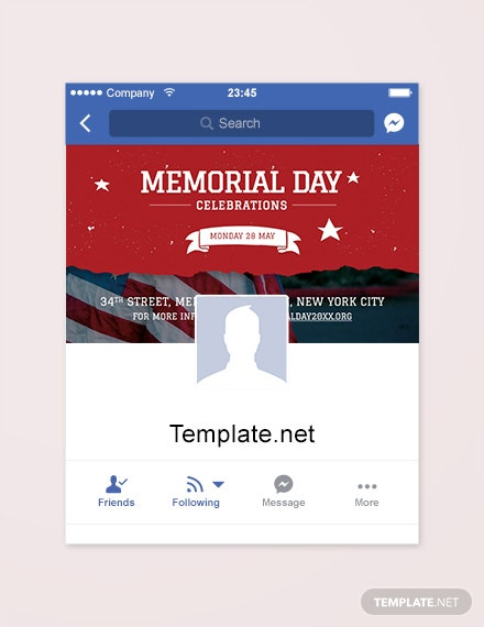 Free Memorial Day FaceBook App Cover Template