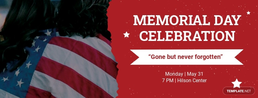 Free Memorial Day FaceBook App Cover Template
