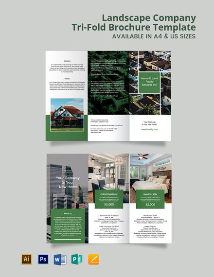 Landscape Company Brochure Template