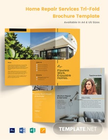 Home Repair Services Tri-Fold Brochure Template