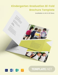Kindergarten Graduation Bi-Fold Brochure Template