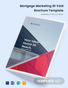 Mortgage Marketing Bi-Fold Brochure Template