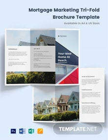 Mortgage Marketing Tri-Fold Brochure Template