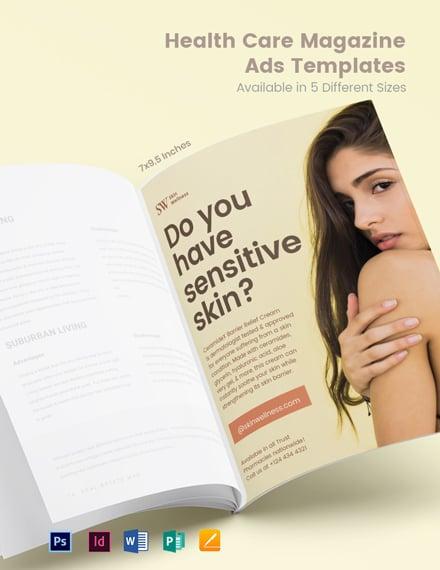 Free Health Care Magazine Ads Template