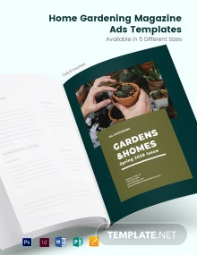 Free Home Gardening Magazine Ads Template
