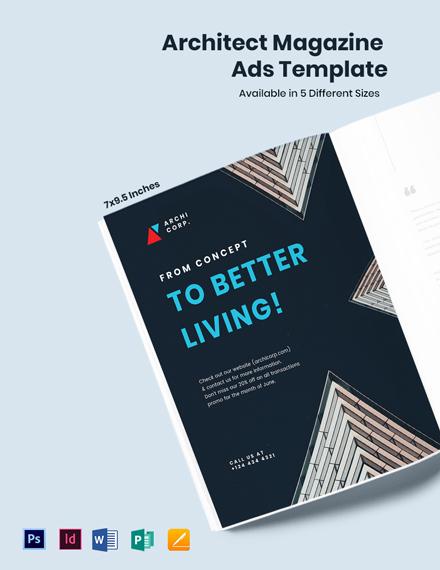 Architect Magazine Ads Template
