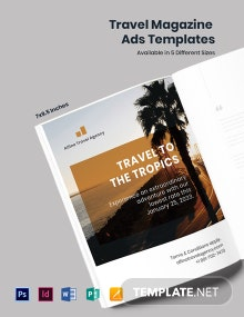 Free Travel Magazine Ads Template
