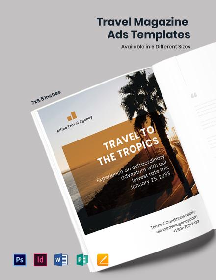 Travel Magazine Ads Template