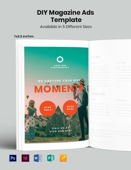 Free Travel Photography Magazine Ads Template