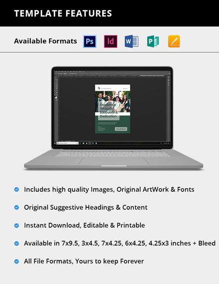Editable University Magazine Ads